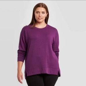 Ava & Viv purple pullover sweater